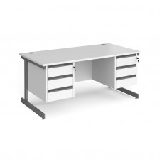 Contract Cantilever Double Pedestal Desks