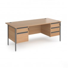Contract Straight Desk with Pedestals