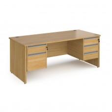 Contract Panel end Double Pedestal Desks