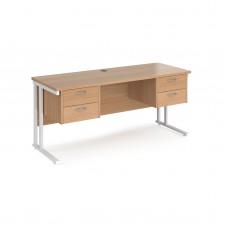 Maestro Cantilever 2 Drawer Pedestal Desk