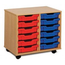 Double Column Tray Storage Units