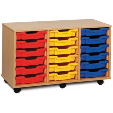 TRIPLE COLUMN TRAY STORAGE UNITS