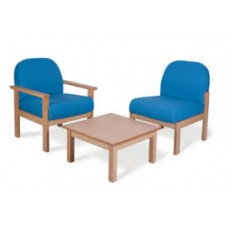 DELUXE WOODEN FRAMED RECEPTION SEATING