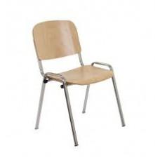 Club ISO Wood Chair