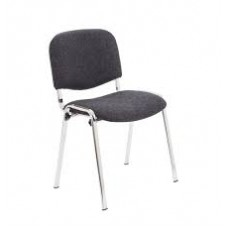 ISO Club Stacking Chair - Chrome Frame