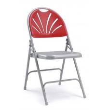 Fan back linking folding chairs